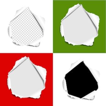 Fond de jeu de papier déchiré