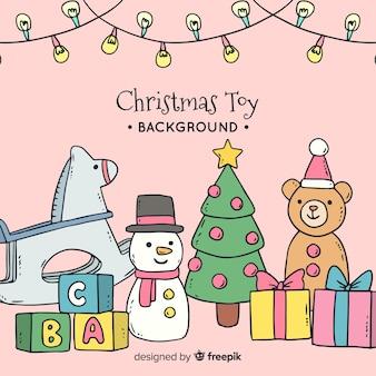 Fond de jouet de noël