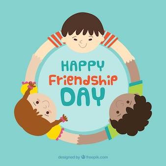 Fond de jour de l'amitié avec des amis heureux