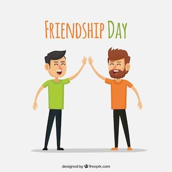 Fond de jour de l'amitié avec les meilleurs amis