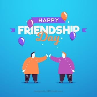 Fond de jour de l'amitié plat
