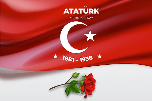 Fond de jour commémoratif ataturk réaliste