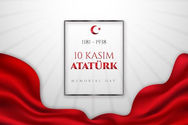 Fond de jour commémoratif réaliste ataturk