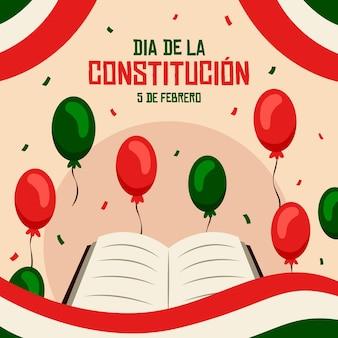 Fond de jour de constitution du mexique illustré