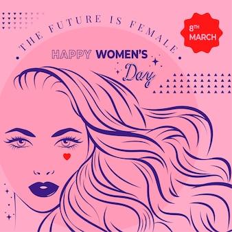 Fond de jour des femmes dessiné à la main