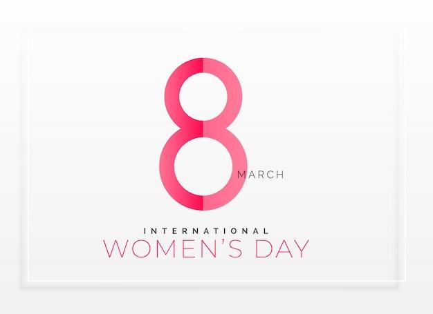 Fond de jour de femmes heureux propre minimal