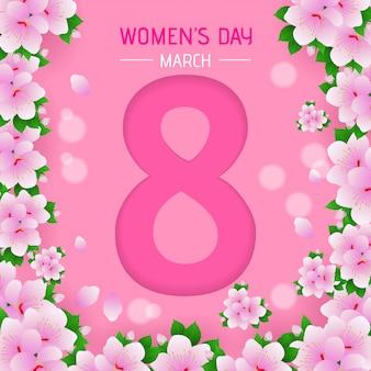 Fond de jour des femmes avec motif de fleurs