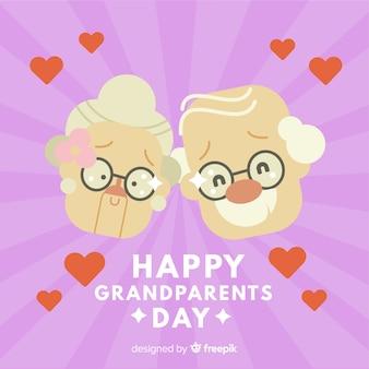 Fond de jour des grands-parents créatifs