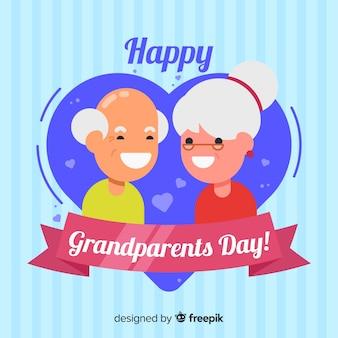 Fond de jour de grands-parents en design plat