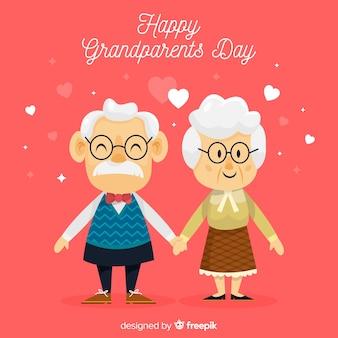 Fond de jour des grands-parents mignons