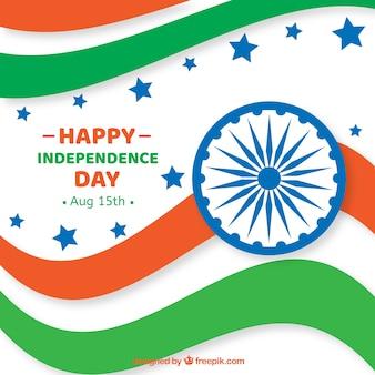 Fond de jour de l'indépendance indien ondulé