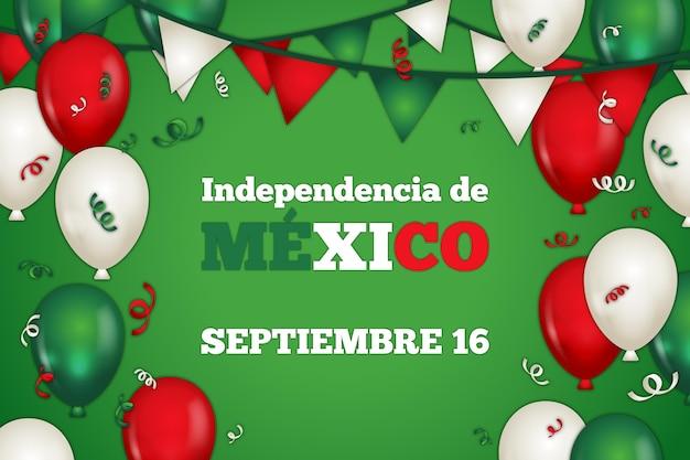Fond de jour de l'indépendance mexicaine design plat