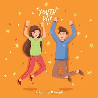 Fond de jour de la jeunesse dessiné à la main