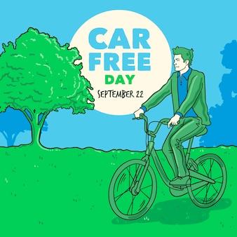 Fond de jour libre de voiture mondiale dessiné à la main