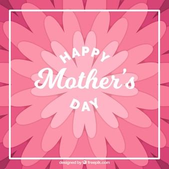 Le fond de jour de mère plat avec des fleurs dans les tons violet