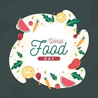 Fond de jour de la nourriture mondiale design plat
