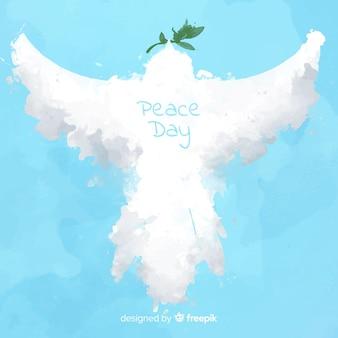 Fond de jour de paix avec colombe abstraite
