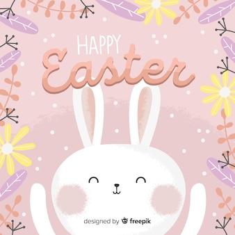 Fond de jour de pâques joyeux dessiné à la main