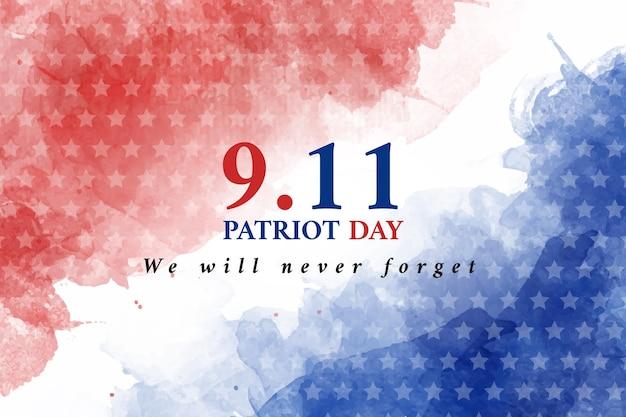Fond de jour patriote aquarelle 9.11
