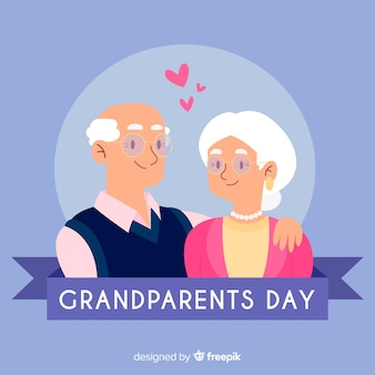Fond de jour plat grands-parents