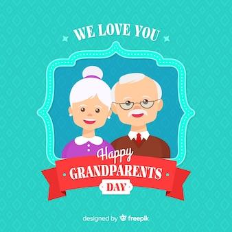 Fond de jour plat grands-parents