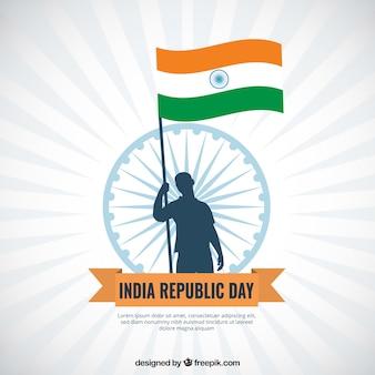 Fond de jour plat république inde
