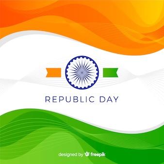 Fond de jour plat république indienne