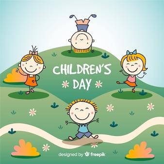Fond de jour pour enfants sur le terrain