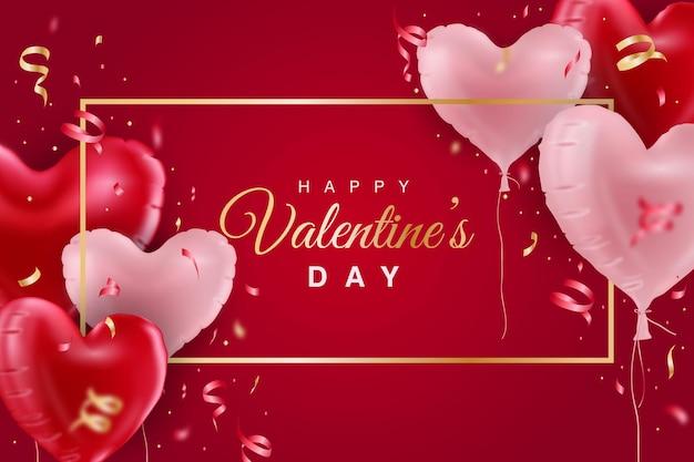 Fond de jour réaliste happy valentine