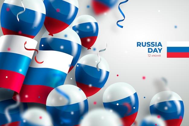 Fond de jour réaliste de la russie