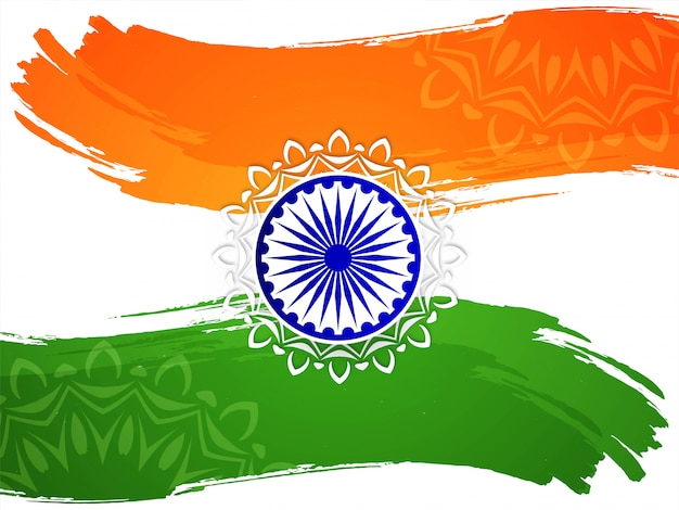 Fond de jour de la république du thème du drapeau indien