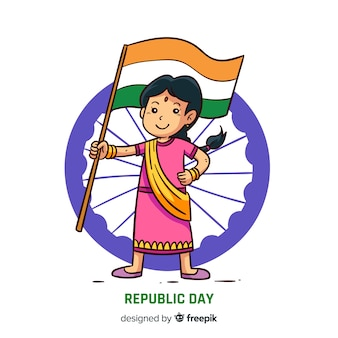 Fond de jour de république indienne dessinés à la main