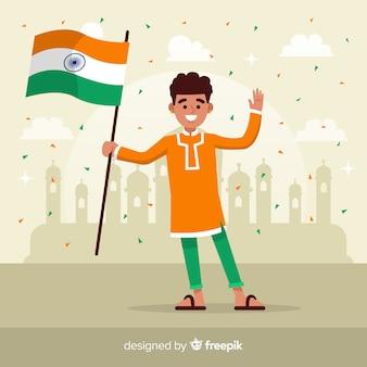 Fond de jour de la république indienne