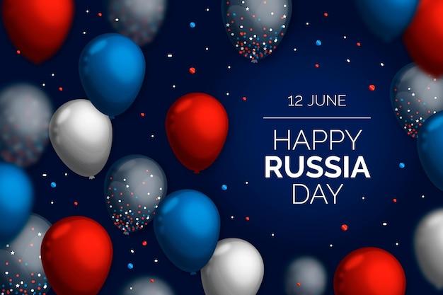 Fond de jour de russie réaliste avec des ballons