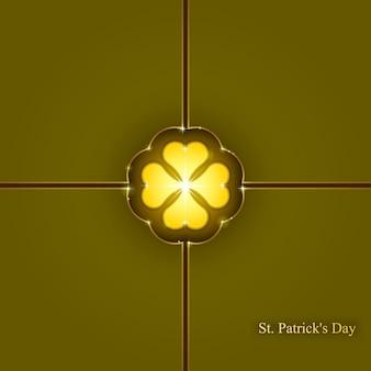 Fond de jour de la saint-patrick`` abstrait géométrique