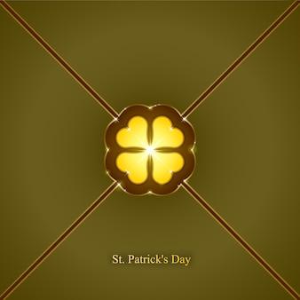 Fond de jour de la saint-patrick, motif de papier peint sans soudure