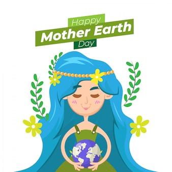 Fond de jour terre mère dessiné à la main
