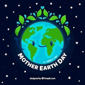 Fond de jour de la terre mère