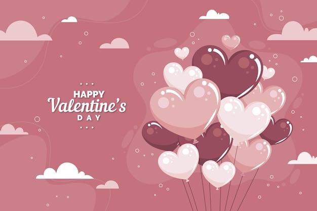 Fond de jour de valentines design plat
