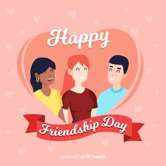 Fond de journée d'amitié dessiné à la main