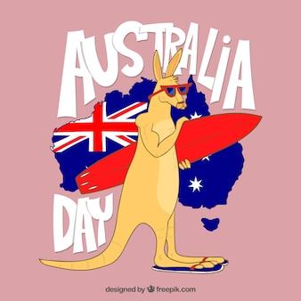 Fond de journée australie dessinés à la main