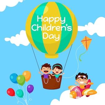 Fond de la journée des enfants heureux