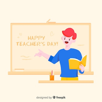 Fond de la journée des enseignants du monde du dessin animé