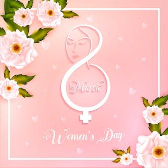 Fond de la journée de la femme.