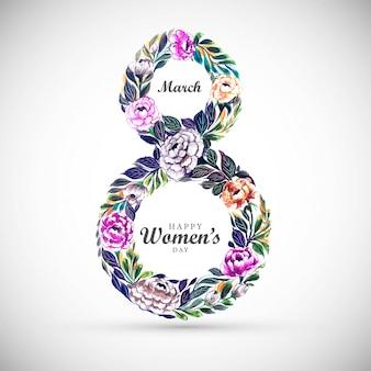 Fond de journée des femmes avec des fleurs de cadre 8 mars