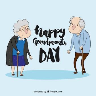 Fond de la journée des grands parents dessiné à la main
