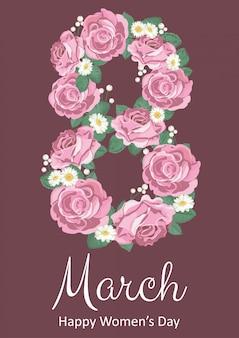 Fond de la journée internationale de la femme heureuse