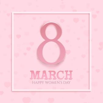 Fond de la journée internationale des femmes. modèle de carte de voeux.