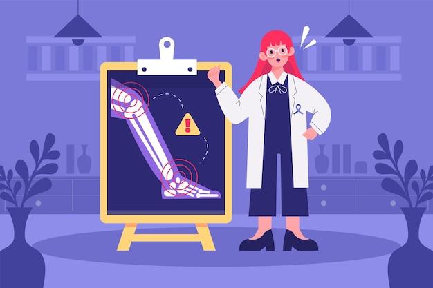 Fond de journée mondiale de l'arthrite plat