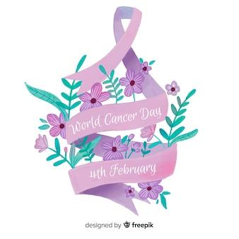 Fond de la journée mondiale du cancer à l'aquarelle